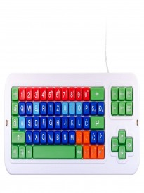 Clevy Color Coded Croatian Mechanical  Computer Keyboard with with Uppercase White Lettering- 102922