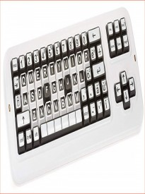 Clevy Color Coded US Mechanical Computer Keyboard with Uppercase White Lettering - 102814, Large Print, Solid Spill Proof