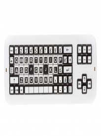 Clevy Italian Contrast Mechanical Large Print Keyboard,Uppercase Lettering,Solid Spill Proof-102692