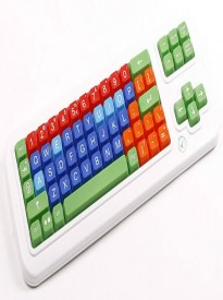 Clevy Large Print Mechanical solid spill proof Color coded Keyboard