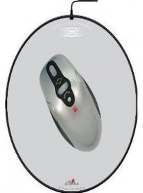 Battery Free Wireless Optical Mouse and Pad (Round) with Vertical and Horizontal Scroll