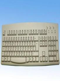 Danish USB Wired Ivory Keyboard