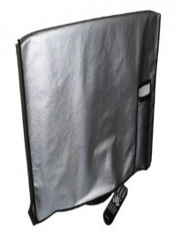 Large Flat Screen TV / LED / HDTV Vinyl Padded Dust Covers With Remote Control Pocket (42 Cover - 40.75 x 4 x 25)