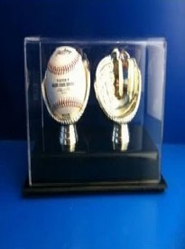 Golden Glove Ball Case - Double - Sports Memoriablia Display Case.