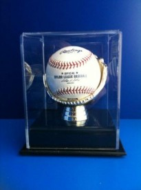 Golden Glove Ball Case - Single - Sports Memorabilia Display Case.