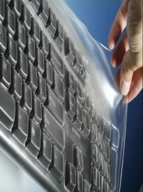 Viziflex's Biosafe Anti Microbial Keyboard cover fitting Logitech K750 Mac Version
