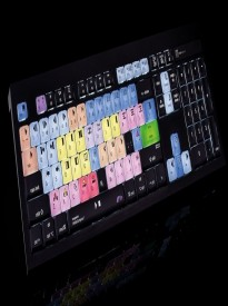 LogicKeyboard Color-Coded Shortcut Avid Media Composer Mac Backlit ASTRA USB Wired Keyboard Part# LKBU-MCOM4-AMBH