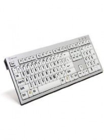 Visually Impaired Large Print Computer USB Wired Keyboard Slim