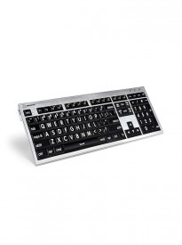 Logickeyboard LKBU-LPRNTWB-CWMU-US, Largeprint White on Black Mac ALBA Keyboard
