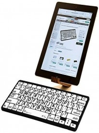 LogicKeyboard Large Print Bluetooth Mini Keyboard Apple iPad iPhone