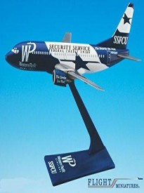 Western Pacific SSFCU Boeing 737-300 Airplane Miniature Model Plastic Snap Fit 1:200 Part# ABO-73730H-009