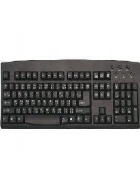 Bilingual Thai and English Languages Black with White Letters Wired Computer Keyboard (Black) (Wired USB) (Windows)