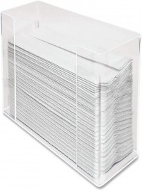 AramediA Transparent Acrylic Towel (Paper) Dispenser 11.5-Inch Wide x 4.2-Inch Deep x 6.75-Inch High Clear - AH190