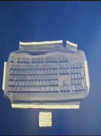 Viziflex's Biosafe Anti Microbial Keyboard cover fitting Microsoft Wired 200 Model 1406 437G104AM