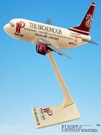 Western Pacific Broadmoor 737-300 Airplane Miniature Model Plastic Snap-Fit 1:200 Part#ABO-73730H-002
