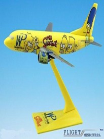 Western Pacific Simpsons Boeing 737-300 Airplane Miniature Model Snap Fit 1:200 Part# ABO-73730H-500